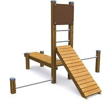 SPORT Rundkurs Elementen- SET Kraftsport für öffentlichen Spielplätze oder Trimm-Dich-Pfade