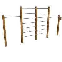 SPORT Rundkurs Elementen- SET Reckanlage Sprossenwand für öffentlichen Spielplätze oder Trimm-Dich-Pfade