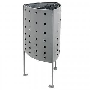 Abfallbehälter Mülleimer Argo 45L im eleganten modernen Design fuer öffentliche Plätze in Städten, Parkanlagen, Spielplätze
