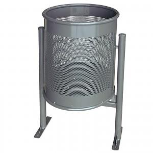 Abfallbehälter Mülleimer Circular Gross 70 L im eleganten modernen Design für öffentliche Plätze