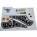BIG - Bobby Car Aufkleber Racer Sticker Aufklebersatz Bobbycar Classic Racing MTM