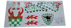 BIG Bobby Car Aufkleber Crazy Boy Sticker Aufklebersatz Bobbycar Classic Jungen