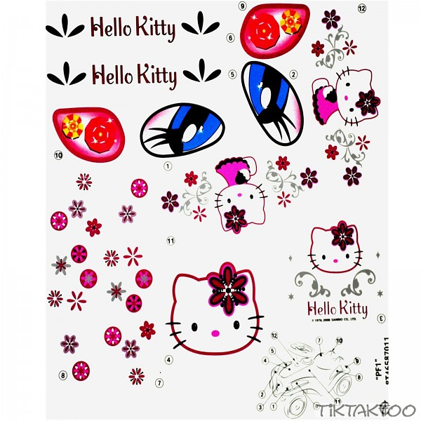 hello kitty big bobby car aufkleber sticker bobbycar. Black Bedroom Furniture Sets. Home Design Ideas