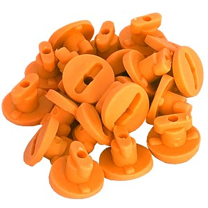 Moveandstic orange Rohrverschlüsse Rohrsicherung 20 Stück Zubehör MAS