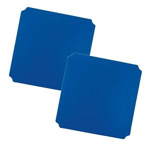 Moveandstic 2er Set Platte 40 x 40 cm, blau