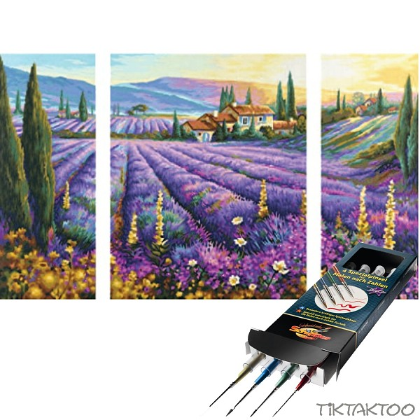 Malen Nach Zahlen Lavendelfelder Inkl Pinselset SET
