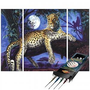 Malen nach Zahlen Afrika-Jäger der Nacht inkl. Pinselset SET