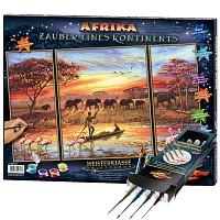 Schipper Malen nach Zahlen Afrika - Zauber eines Kontinents inkl. Pinselset SET