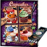 Schipper Malen nach Zahlen Cupcakes inkl. Pinselset Set