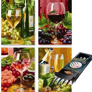 Malen nach Zahlen In Vino Veritas inkl. Pinselset SET