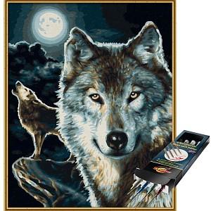 Malen nach Zahlen Wölfe inkl. Pinselset