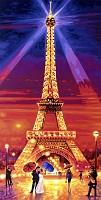 Malen nach Zahlen - Der Eiffelturm bei Nacht 40 x 80 cm