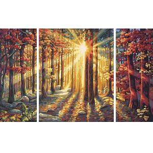 Malen nach Zahlen Herbstwald Triptychon 40x80cm 609260688