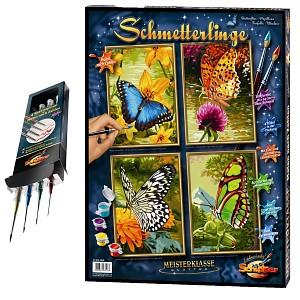 Malen nach Zahlen Schmetterlinge inkl. Spezialpinselset Noris Schipper