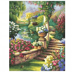 Painting By Numbers - Paradisal Garden 40x50