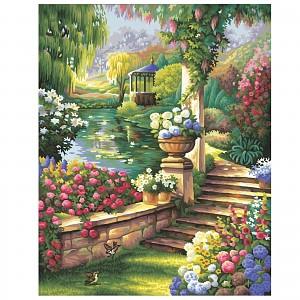 Malen nach Zahlen Schipper Gartenparadies 40 x 50 cm