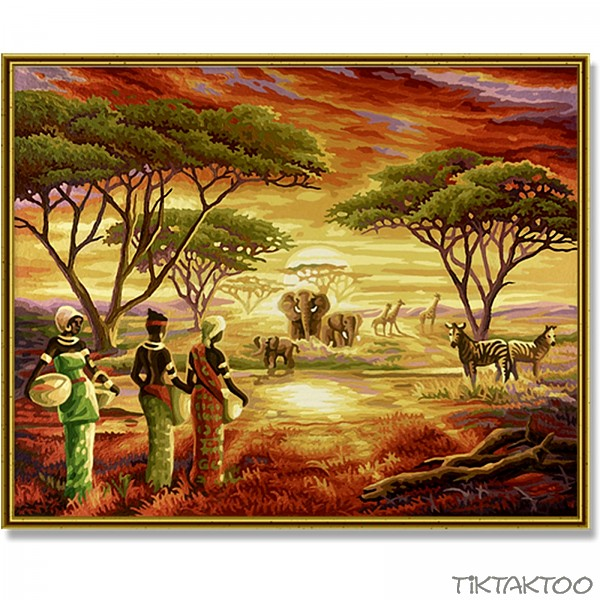 Painting By Numbers - Picturesque Africa 40x50 - TikTakToo