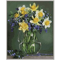 Malen nach Zahlen Frühlingsblumen 40 x 50 cm von Schipper