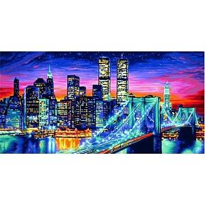Malen nach Zahlen - SCHIPPER - Manhattan bei Nacht 40x80