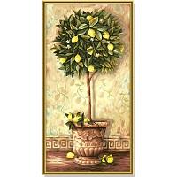 Schipper Malen nach Zahlen Zitronenbäumchen 40 x 80 cm