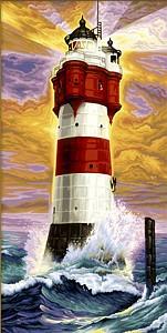 Malen nach Zahlen Schipper 609220399 Leuchtturm  40x80 cm Hochformat