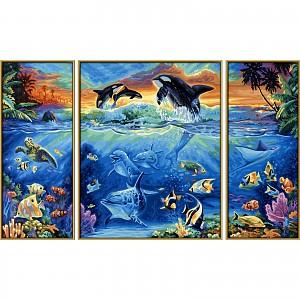 Malen nach Zahlen - SCHIPPER - Am Korallenriff, Triptychon 80x50