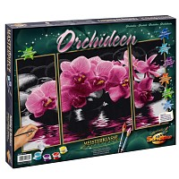 Malen nach Zahlen Orchideen Triptychon 50 x 80 cm Schipper