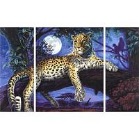 Malen nach Zahlen - Schipper - Afrika-Jäger in der Nacht Triptychon 50x80cm LEOPAR
