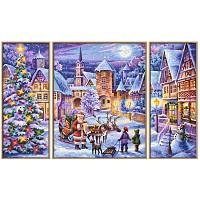 Malen nach Zahlen 609260730 Weiße Weihnachten Triptychon Weihnachtsbild 2016