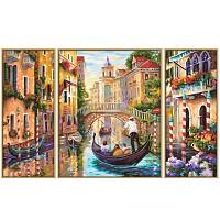 Malen nach Zahlen 609260736 Venedig - Die Stadt in der Lagune, Triptychon, 50x80