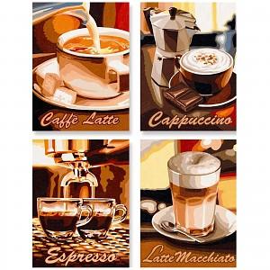 Malen nach Zahlen Schipper 609340553 Kaffeepause Quattro
