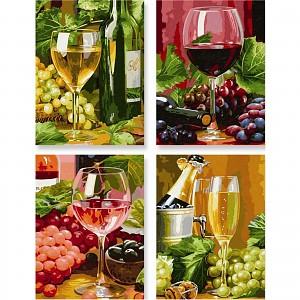 Malen nach Zahlen Schipper 609340610 In Vino Veritas Quattro