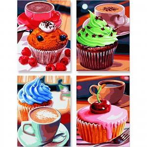 Malen nach Zahlen Cupcakes Quattro Schipper