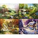 Malen nach Zahlen - SCHIPPER - Der Frühling, Der Sommer, Der Herbst, Der Winter -