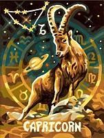 Malen nach Zahlen Sternzeichen / Tierkreiszeichen Steinbock 18x24
