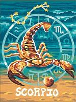 Malen nach Zahlen Sternzeichen / Tierkreiszeichen Skorpion 18x24