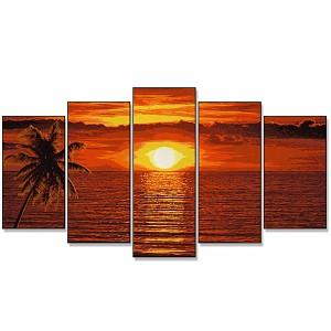 Malen nach Zahlen 609450728 Sonnenuntergang in der Karibik