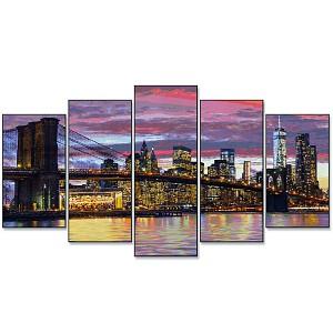 Malen nach Zahlen New York in der Morgendämmerung  132 x 72 cm