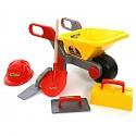 Bauschubkarre 6.tlg. Kinder Schubkarre Zubehör Sandkasten Spielzeug Gartenset