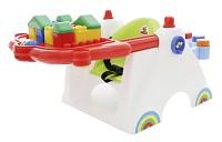 Coloma Baby-Spieltisch mit Bausteinen 17-tlg. Bausteine Bauklötze
