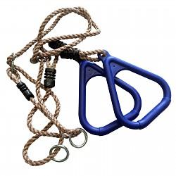 Turnringe mit Seil blau  - Kunststoff-Seilringe Dreieck