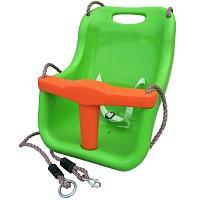 Unterteilter Babyschaukelsitz, grün/orange