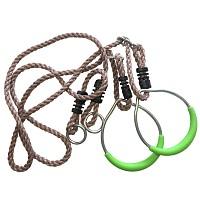 Metall-Turnringe mit Seil, apfelgrün