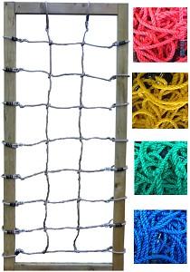 Kletternetz H: 2,50 x B: 1,00 m,  rot, blau, grün oder schwarz