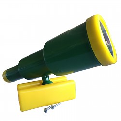 Teleskop-Fernrohr groß grün / gelb