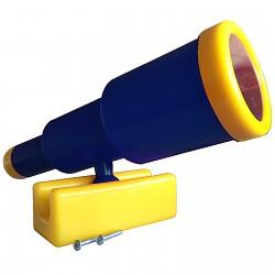 Teleskop-Fernrohr groß blau / gelb