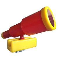 Teleskop-Fernrohr groß rot / gelb