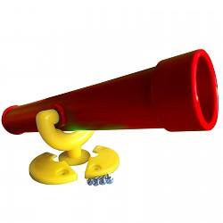 Teleskop-Fernrohr standard rot / gelb