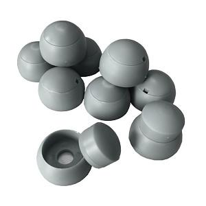 10er Set Abdeckkappen 8-10mm grau