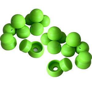 20er Set Abdeckkappen 8-10mm apfelgrün